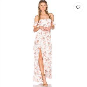 NWT Flynn Skye Bardot Maxi Dress